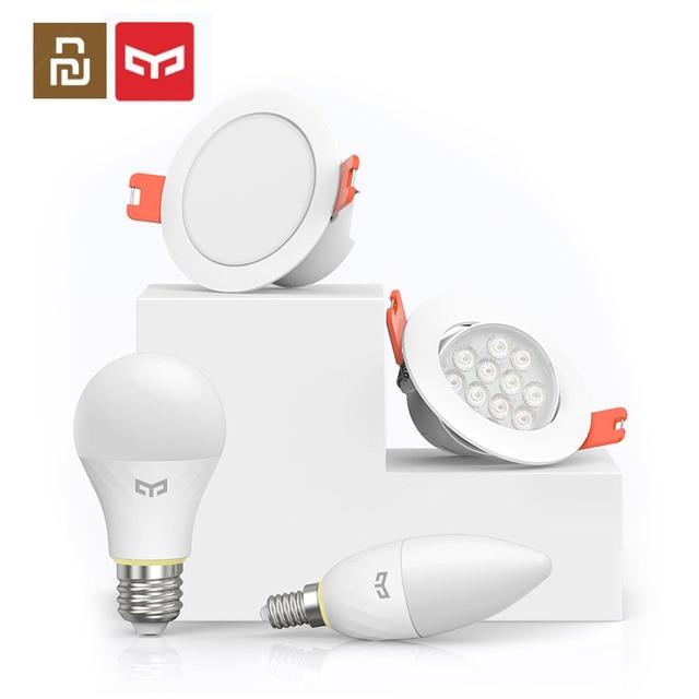 Ampoule intelligente de bougie de maille de Youpin Yeelight, ampoule intelligente de E14, Downlight, travail dédition de maille de Bluetooth de projecteur avec lapplication de maisons de MI