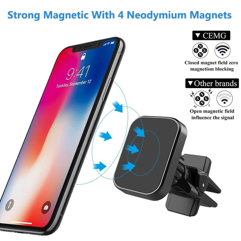 Fimilef Универсальный магнитный автомобильный держатель для телефона на вентиляционное отверстие магнитный держатель для мобильного телефон...