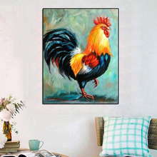 5D DIY Full Round Diamond Painting Cock Cross Stitch Embroidery Home Decoration