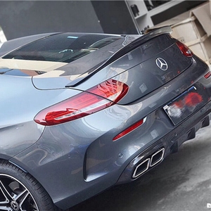 C63 Coupe carbon fiber for Mercedes - Mercedes-Benz new C-class W205 2016-17 PSM style rear wing predator lip-shaped suitcase(China)