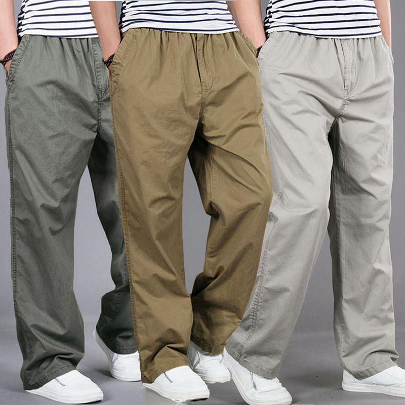 Men Harem Tactica Pants Brand 2018 Summer Sagging Cotton Loose Pants Men Trousers Plus Size Sporting Pant Mens Joggers Feet Pant