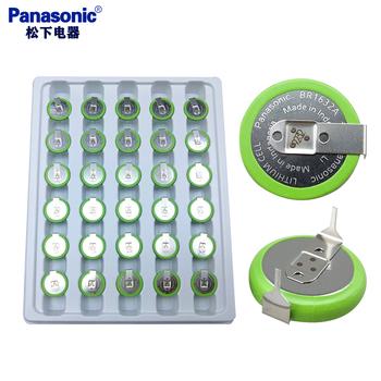 10 sztuk partia Panasonic BR1632A HAN 3V bateria litowa z lutowania Pins przycisk szeroki temperatura BR1632A baterie komórki 125 stopni tanie i dobre opinie CN (pochodzenie) 120mah 16 0*3 2mm Li-ion