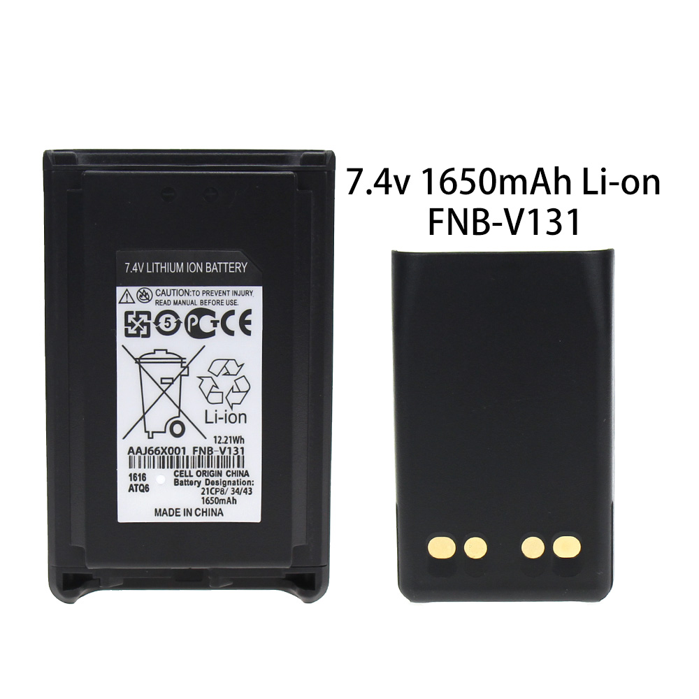 FNB-V103LIA 1380mAh Li-ion Battery Compatible For Vertex VX-231 VX231 VX-228 VX228 VX230 VX-234 (Fits For CD-34/VAC-300 Charger)