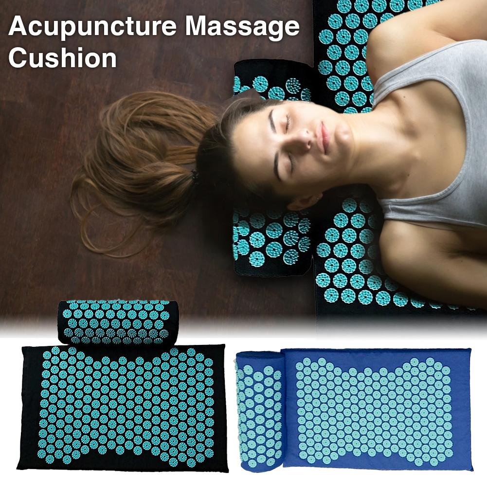 Acupressure Massage Mat including Pillow Sets to Relieve Stress and Back Pain with Spike 1