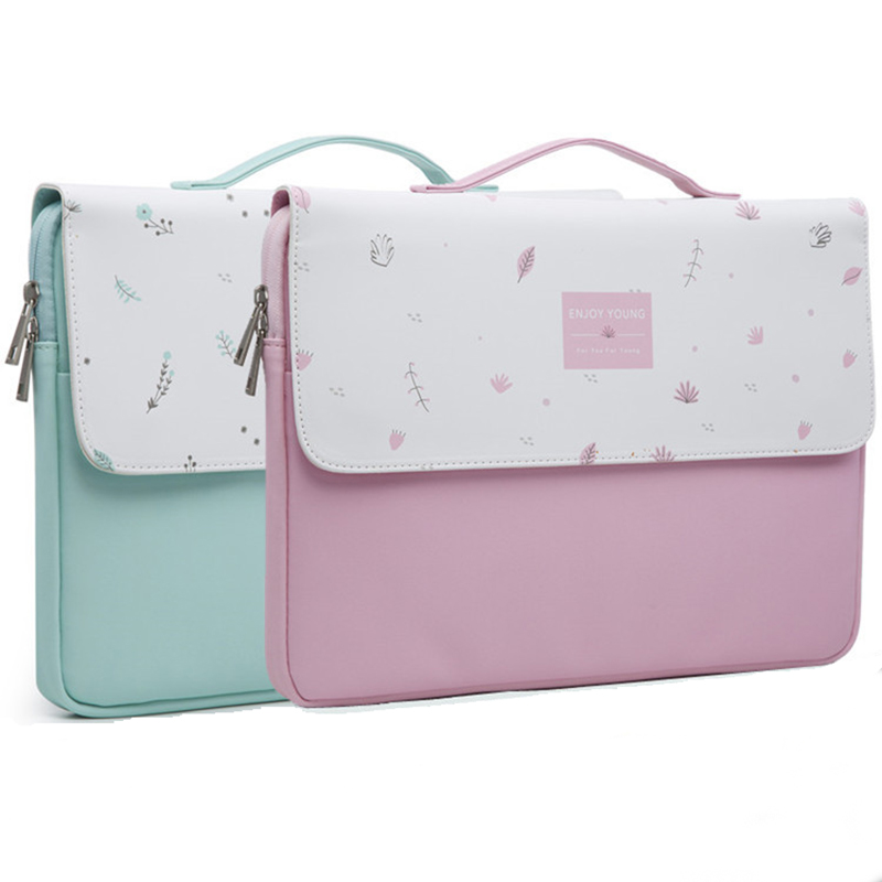 Cute Handbag Laptop Bag Lovely Girl Leather Waterproof Computer Notebook Bag For MacBook 11