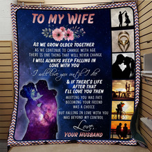 SOFTBATFY To My Wife Quilt Print All Season Quilt For Bed Soft Warm Blanket Cotton Quilt