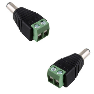 Image 2 - Gran venta 100 Uds DC conector CCTV Cable adaptador de enchufe macho UTP Cámara conector Balun de vídeo 5,5x2,1mm ¡envío gratis!