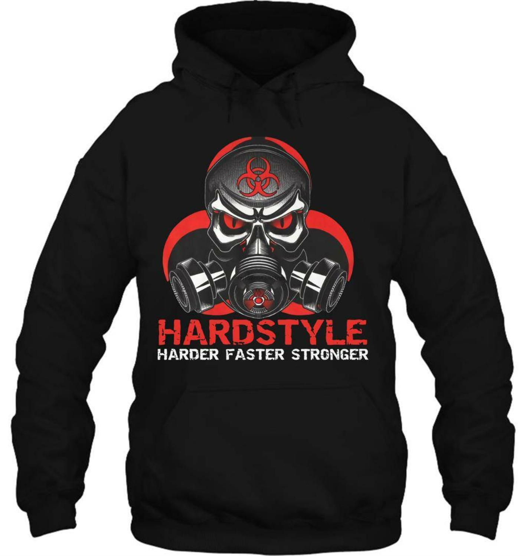 Hoodie Neuheit Cartoon T Hemd Hardstyle T-Shirt Schwarz Hardstyle Gabba Hardcore Techno Rotterdam Terror Corps Film