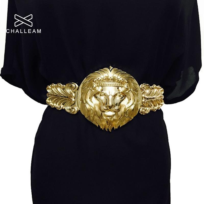 Golden Waist Belts Fashion Women's Metal Wide Waistband Female Luxury Brand Designer Ladies Elastic Belt For Dress 108