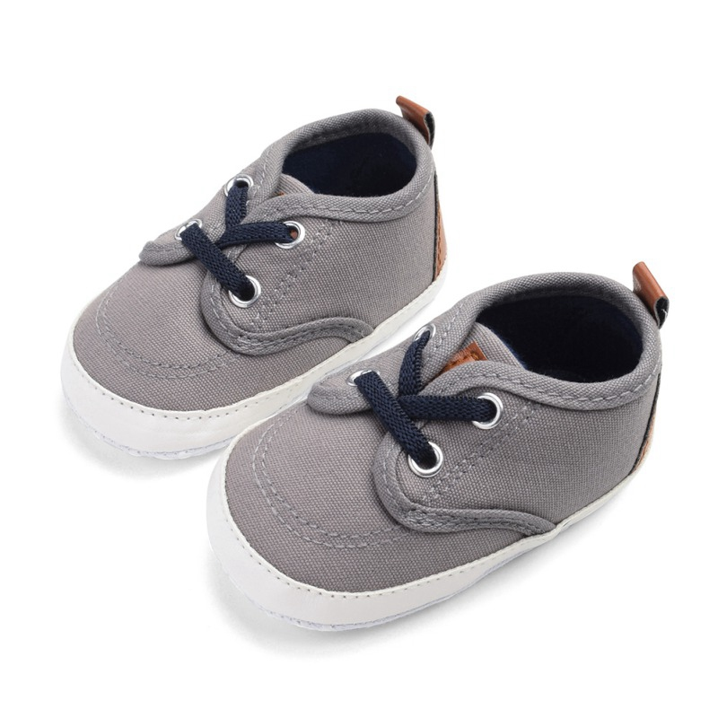 Baby Shoes Toddler Boys Girls Breathable Canvas Design Anti-Slip Shoes Sneakers Toddler Soft Soled First Walkers