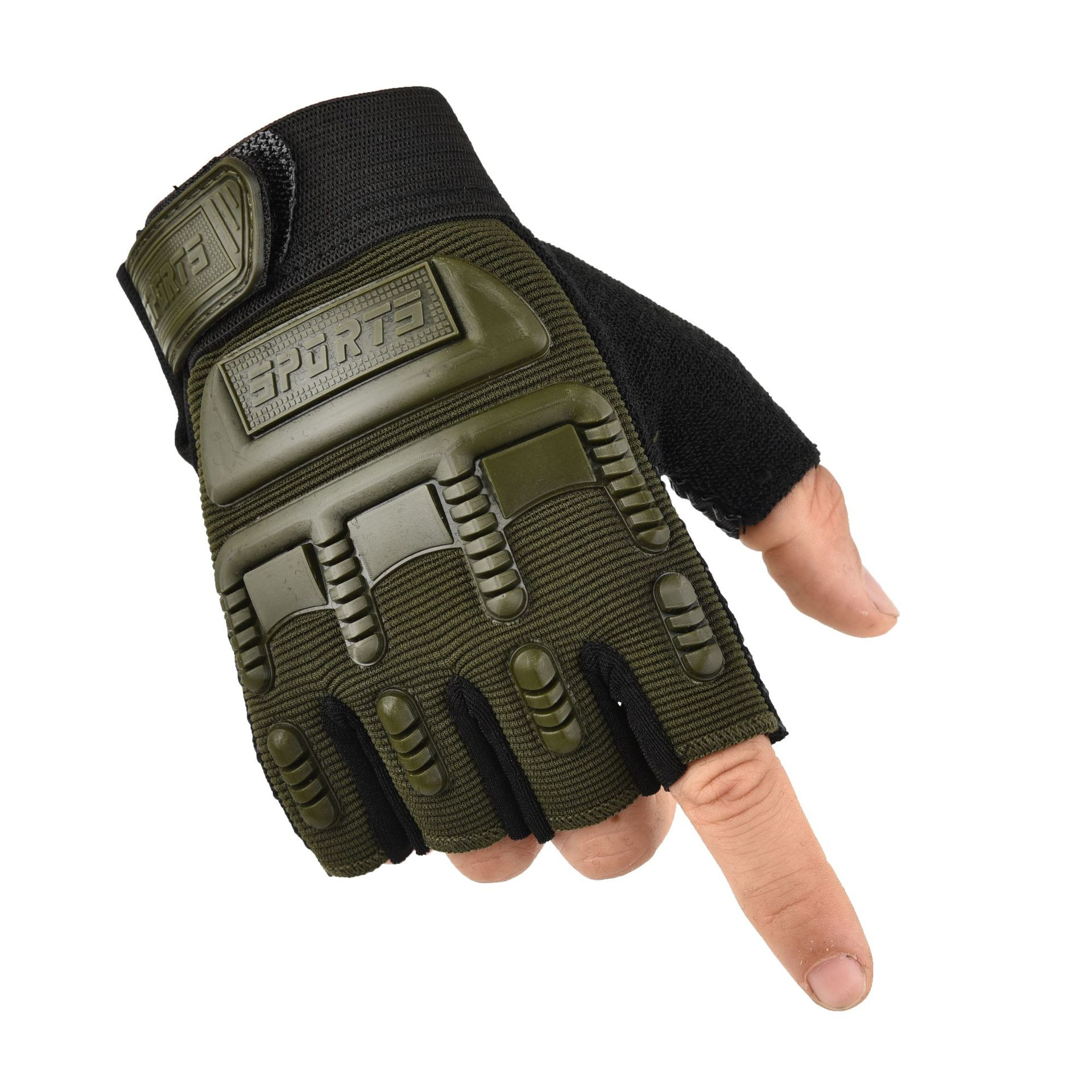Kids Tactical Fingerless Gloves for 4-14 years old Military Armed Anti-Skid Sports Outdoor half Finger Student Boys Girls Gloves