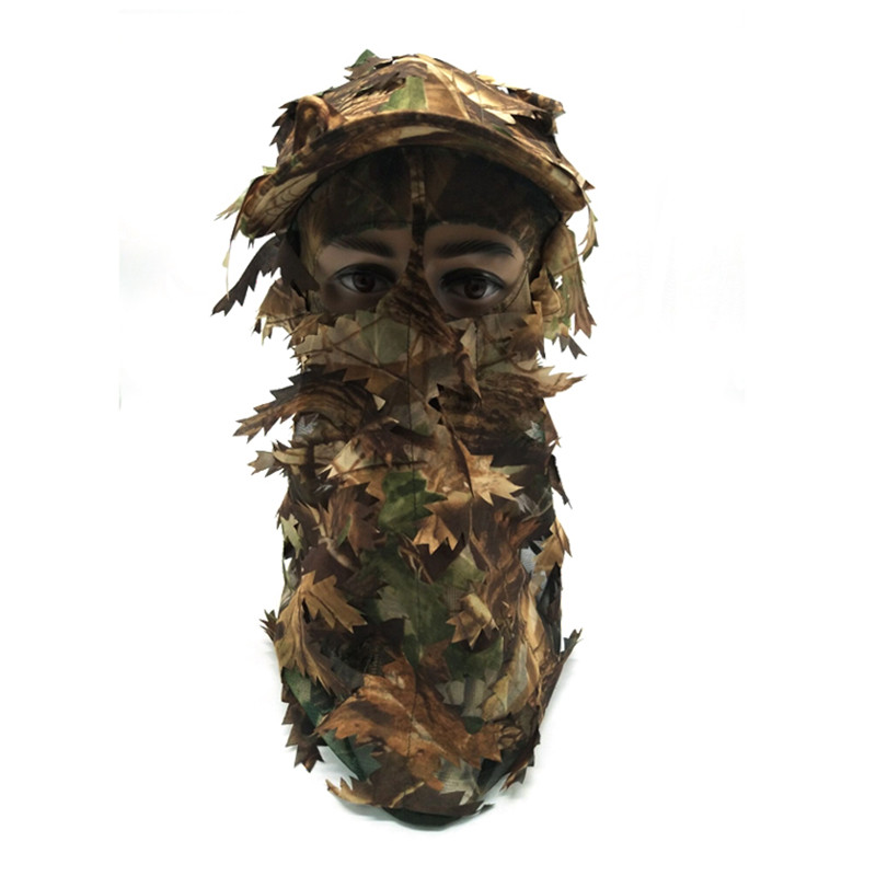 3D Stereo Camouflage Facial Mask Sheet Turkey Hunting Mask Hat Balaclava Full Forest CS Facial Mask Hot - Цвет: A1