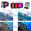Husiway Accessories for Gopro hero 7 6 5 Black Waterproof Housing Colorful filter set Silicone Case Frame for Gopro 7 Black 60C flash sale