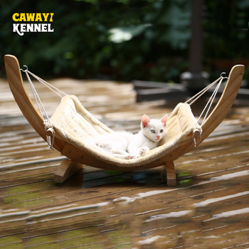 Wooden Pet Cat Hammock Bed Nest for Cats Swing