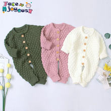 Newborn Baby Clothes Baby Boy Girl Spring Button Sweater Kni