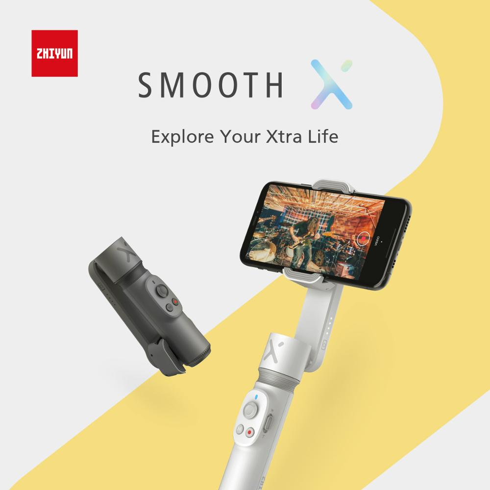 ZHIYUN Smooth X Mini Handheld Gimbal Stabilizer Mobile Phone Selfie Stick Vlog Anti-shake Smoothx Bluetooth Smart Smartphone