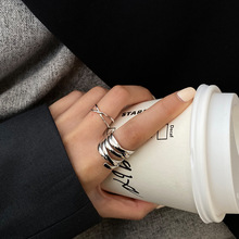 HOT ring woman ins retro wind opening adjustable love index finger fashion personality trend couple street jewelry
