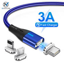 1m 2m 3a magnético cabo do telefone micro usb tipo c carregador ímã cabo de dados de carregamento rápido para iphone 11 xs max samsung xiaomi móvel