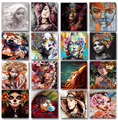 Женский портрет живопись маслом по номерам комплект на холсте 60x75 кадр набор акриловых красок для взрослых рисунок Раскраска по номерам