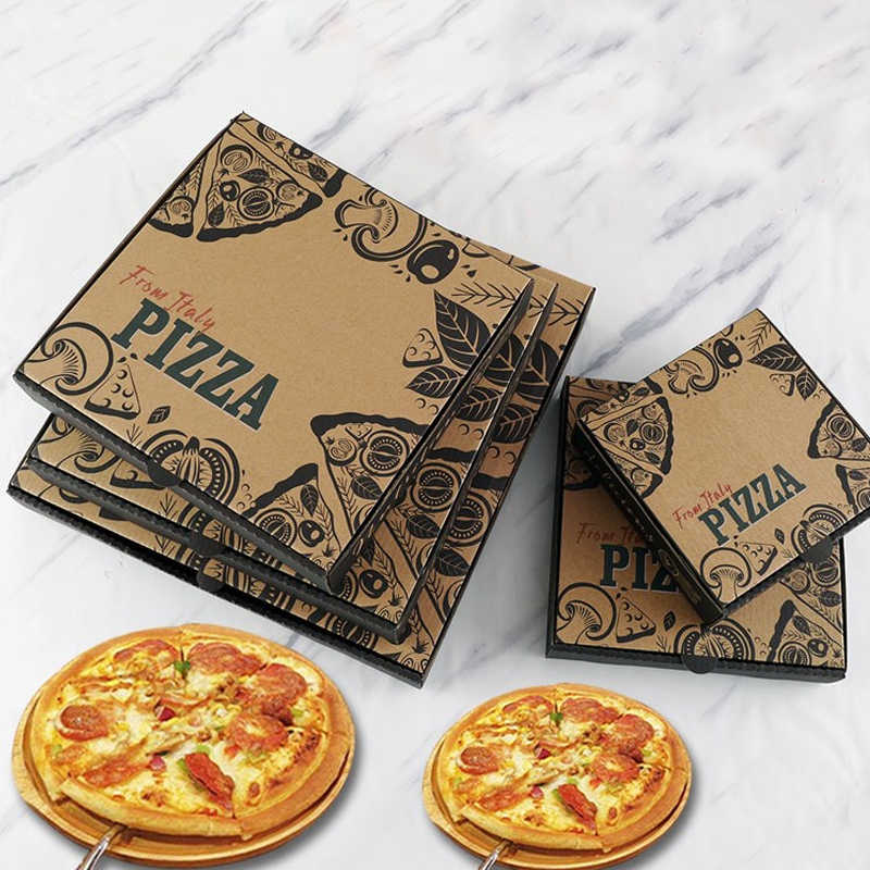 """Small 7/"""" inch Pizza Boxes for Kids Birthday BDAY Party Barbeque BBQ Baking"""