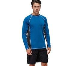 100% полиэстер Для мужчин рубашка с длинными рукавами купальный