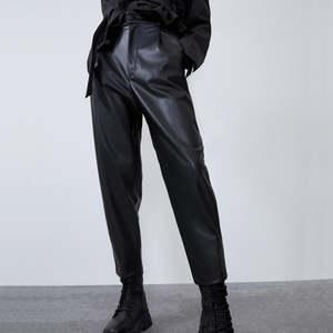 Pants Pencil-Trousers Streetwear Faux-Leather Loose Autumn Black Elegant High-Waist Winter Women