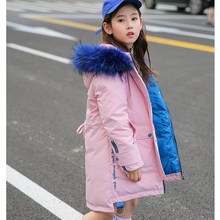 Kid Girl Down Jacket Clothes Long Coat Winter New Childrens In The Big Children Thick Clothing