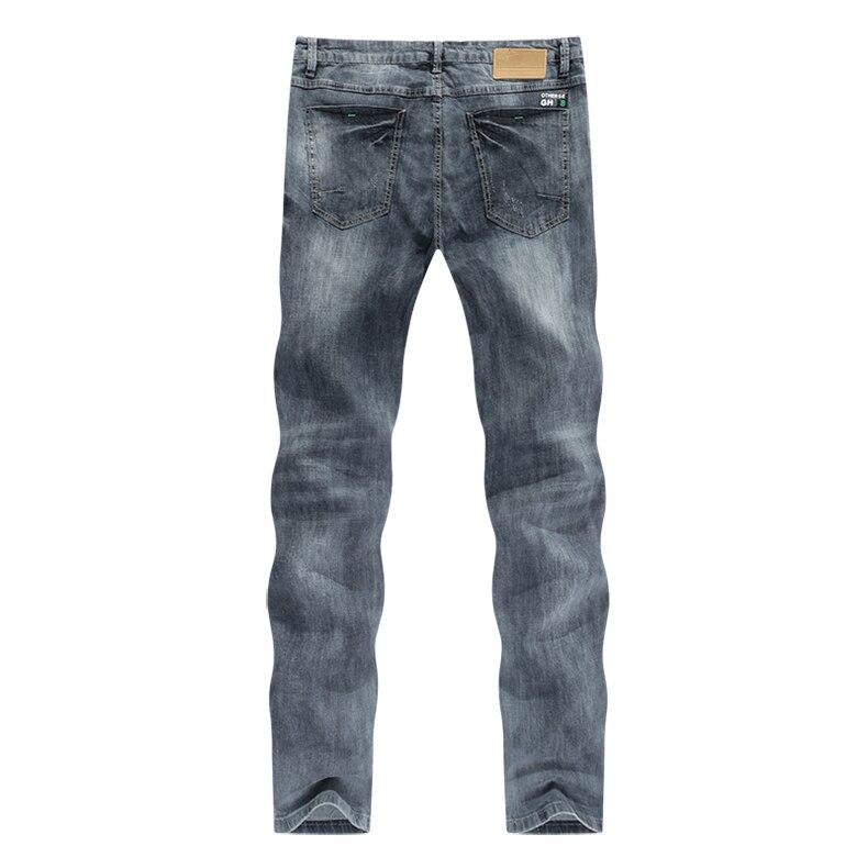 KSTUN jeans men ripped men's slim fit jeans summer stretch retro gray jeans mens denim pants distressed streetwear hip hop jeans 12