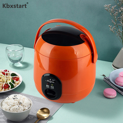 Kbxstart Electric Rice Cooker 1.2L Multicooker Insulation Rice Pot Kitchen Electric Skillet Fast Heating Lunch Box 1-2 people