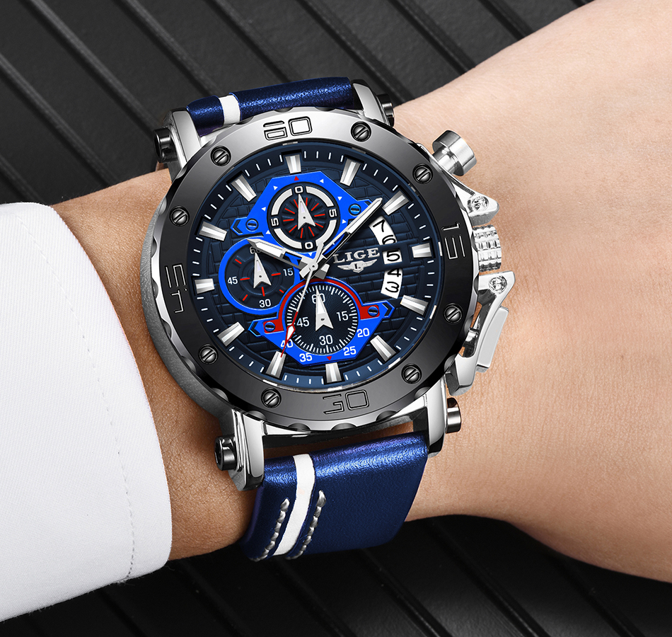 H6ccbdaaa03c847debd7c1040a0b7dfb49 - LIGE New Mens Watches Top Brand Luxury Big Dial Military Quartz Watch Leather Waterproof Sport Wristwatch Relogio Masculino