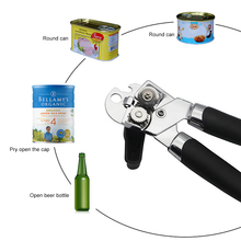 Can Opener Side-Cut Kitchen-Accessories Pro-Gadgets Stainless-Steel Outdoor Camping Handheld
