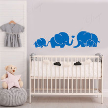 Elephant Family Group Wall Sticker Vinyl Cartoon Home Decor For Kids Room Bedroom Nursery Decals Removable Murals Wallpaper 4313 travel agency office wall sticker vinyl interior home decor decals say hello to summer voyage murals removable wallpaper 3605