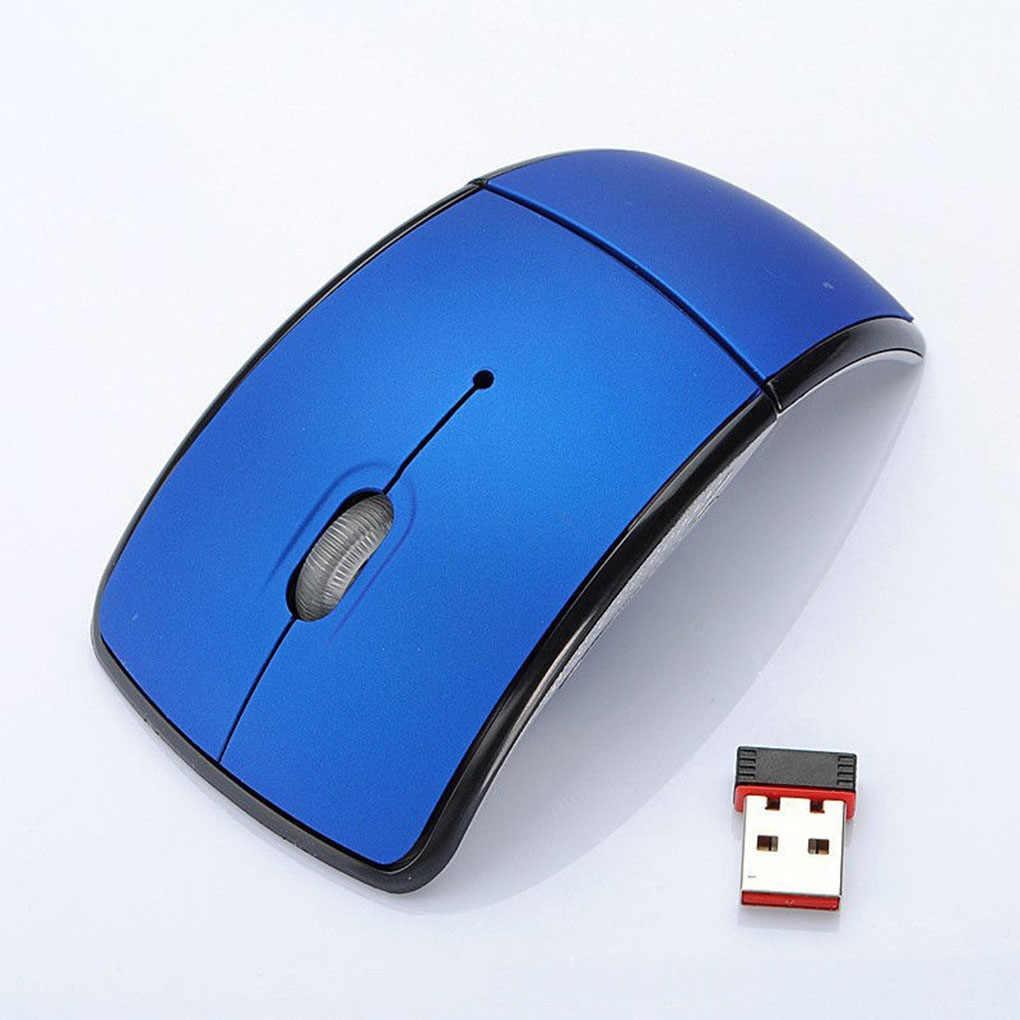 Vòng Cung 2.4G Chuột Gấp Không Dây Không Dây Chuột USB Có Thể Gập Lại Máy Thu Trò Chơi Máy Tính Laptop Phụ Kiện