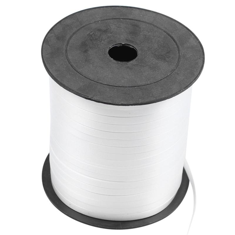 1 рулон воздушный шар ленты 225 м 5 мм для свадебной вечеринки (белый)