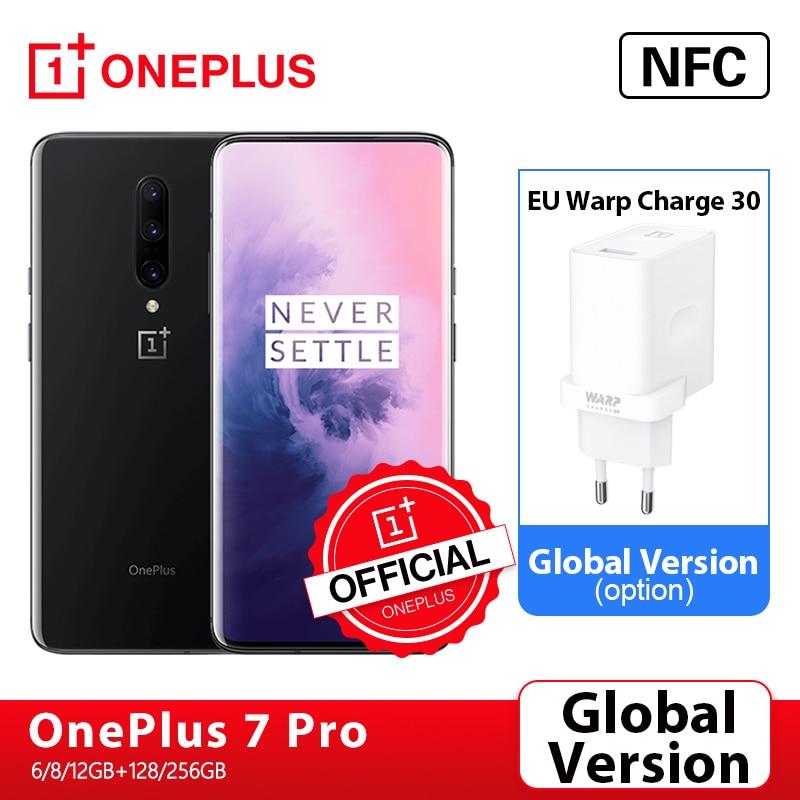 Глобальная версия OnePlus 7 Pro смартфон 6 ГБ 128 48MP камеры Snapdragon 855 2K + жидкость активно-матричные осид, Экран OnePlus официального магазина Carter's; код: