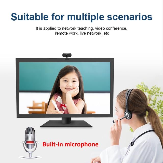 Webcam 2k 2040*1080p hd, câmera de computador e pc com microfone, câmeras rotativas para chamadas de vídeo em transmissão ao vivo trabalho de conferência 5
