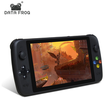 Data Frog 7 inch Quad-core Handheld Arcade Game Console Support for PS1/GBA/MD/MAME Retro MINI Video Game Console Support HD Out