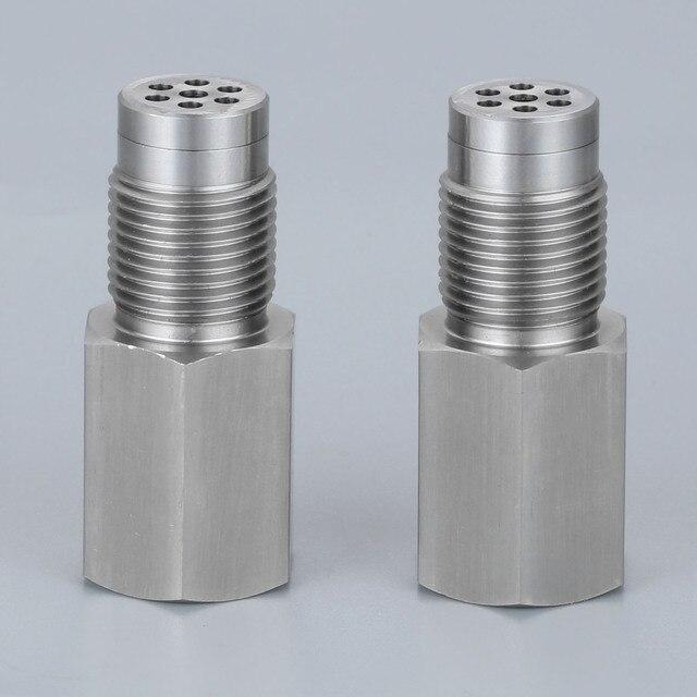 Yetaha 2 pièces CEL éliminateur avec Mini convertisseur catalytique pour M18 X 1.5 filetage O2 capteur entretoises moteur lumière