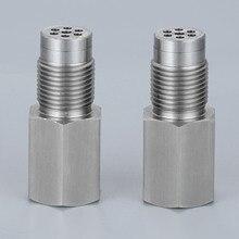 Yetaha 2Pcs CEL Eliminator Mit Mini Katalysator Für M18 X 1,5 Gewinde O2 Sensor Spacer Motor Licht