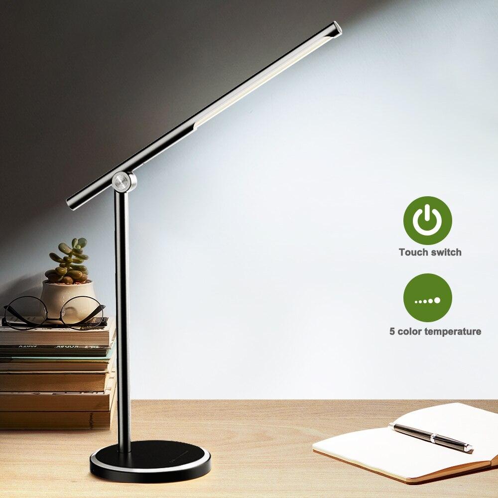 LED لمبة مكتب 5 طرق اللون x5 مستويات Dimable التحكم باللمس USB قابلة للشحن القراءة العين حماية مع الموقت Led الجدول ضوء المصباح