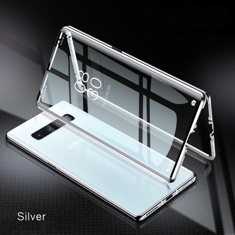 Полностью Магнитный чехол для Samsung S20, S10, E, S9, S8, чехол Note 20, 10, 9, 8 Plus, Ultra Lite, A51, A71, A50, A70, металлический бампер, стеклянный чехол, 360