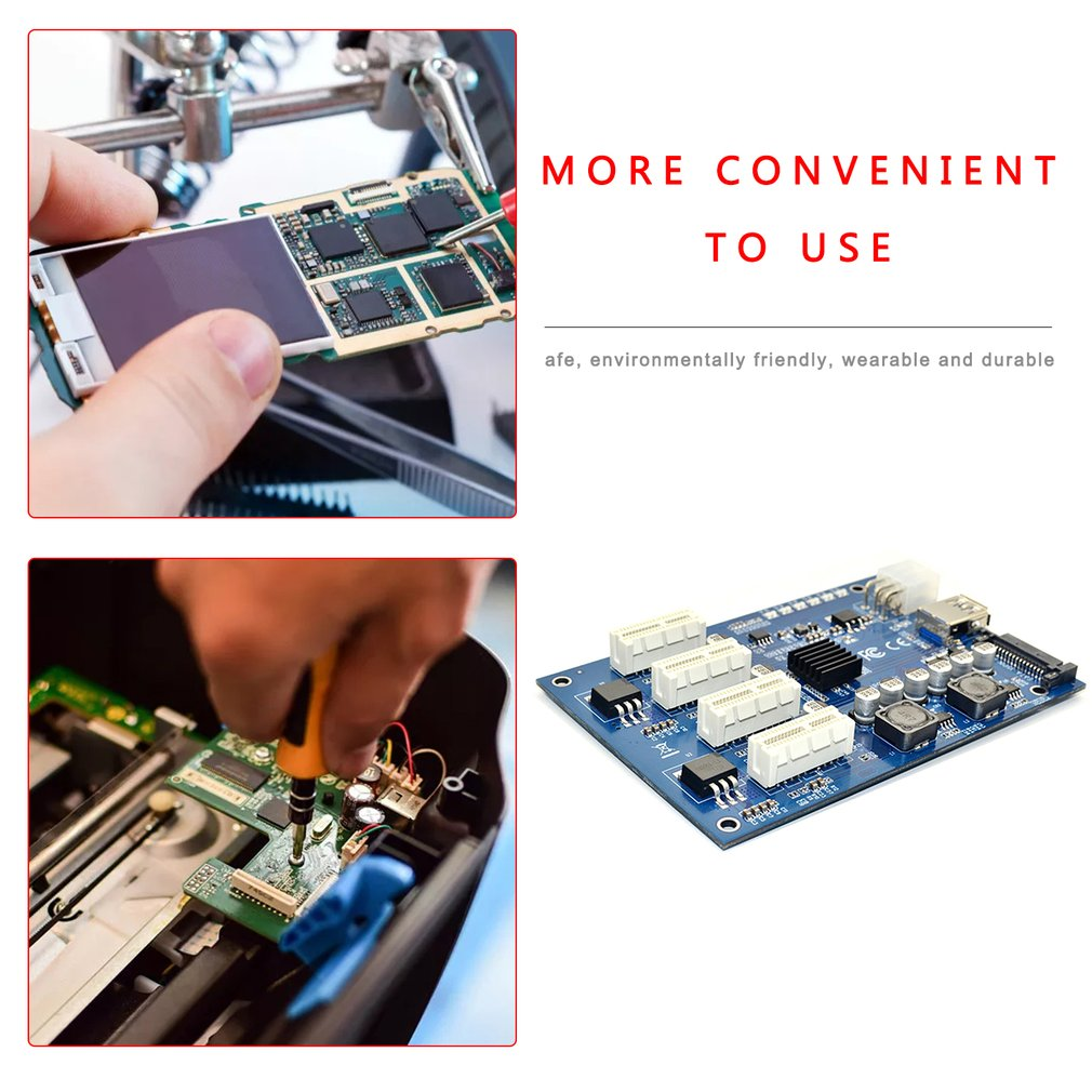 PCIe to PCI Express 1to 4 Slot Riser Card Mini ITX to External 4 PCI-e Adapter Port Multiplier Card for Miner BTC 5