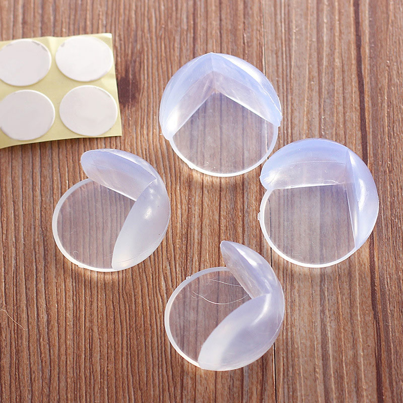 High Quality 10pcs Round PVC Desk Table Edge Corner Safety Protector Sticker Pad Anti Crash For Toddler Baby