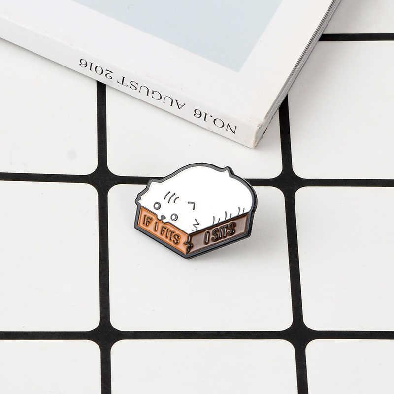 แมวตลก Enamel PIN น่ารักไขมันกล่อง BUTT Kitty Badge เข็มกลัดสำหรับหญิงเสื้อผ้ากระเป๋าเครื่องประดับของขวัญสัตว์ lapel Pins