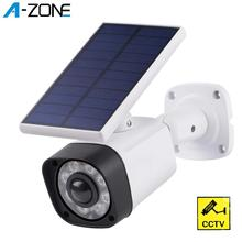 2pcs Simulation Fake Camera Solar Power Outdoor Indoor Home Security Waterproof Surveillance Cameras with Wifi Dummy CCTV Camera