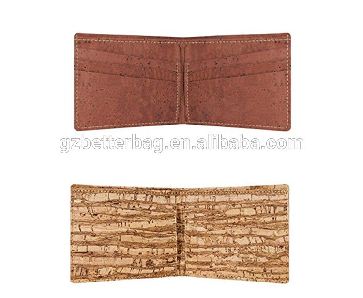 ZF-712-2 high quality cork wallet portugal men made in guangzhou china