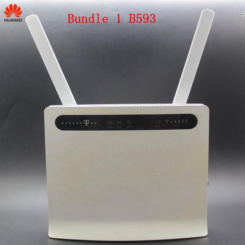 Débloqué utilisé Huawei 4G Modem routeur B593 E5186 B525 B528 avec antenne 4G LTE routeur WIFI routeur carte SIM poche wifi routeur