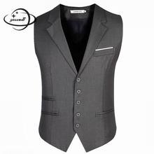 Мужские блейзеры жилеты пальто весна осень мужские жилеты одежда однобортный Тонкий деловой человек верхняя одежда h44