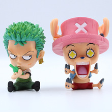 10cm Anime One Piece PVC Action Figures Roronoa Zoro Tony Tony Chopper Figure Toys Dolls Model Collection Toy  Free Shipping стоимость