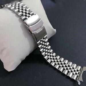 Image 3 - 22 mm נירוסטה להקת שעון צמידי מעוקל סוף החלפה עבור Seiko SKX007 SKX009 SKX011 DIY להחליף רצועת השעון